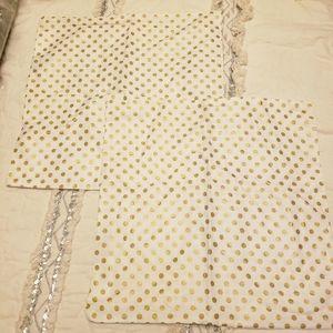 Gold Dot Pillow Cover Set